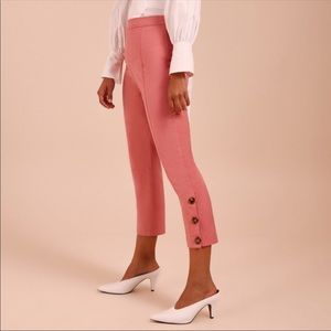 C/MEO COLLECTIVE Definitive Pink Ankle Pants XS